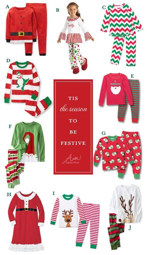 40 Adorable Christmas Pajamas from Alphamom.com