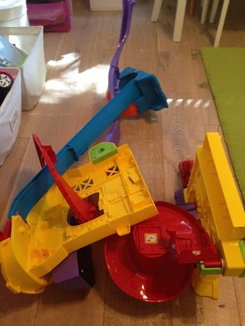 Fallen over holiday Toys