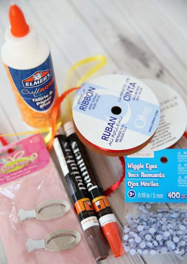 Supplies for making turkey hairclips