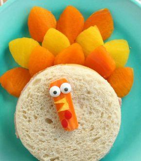 Turkey Sandwich Food Craft for Thanksgiving