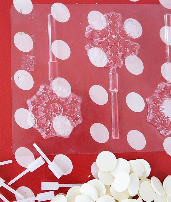 Chocolate Snowflake Pencil Toppers by Cindy Hopper for Alphamom.com