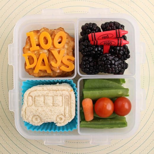 100 Days of School Bento Box Lunch by Wendy Copley for Alphamom.com
