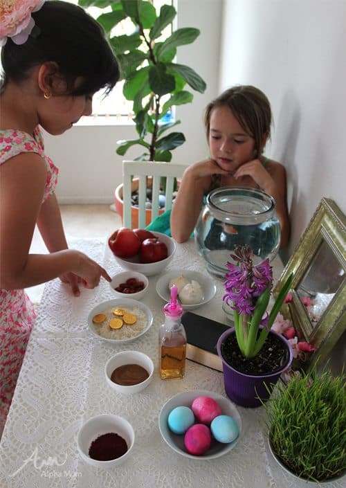 Haft-Seen Printable to Celebrate Nowruz (aka Norooz) by Brenda Ponnay for Alphamom.com