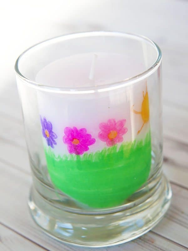 Earth Day Candle Craft by Cindy Hopper for Alphamom.com