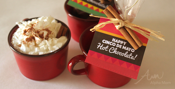 Cinco de Mayo Mexican Hot Chocolate Recipe and Printable Pouch