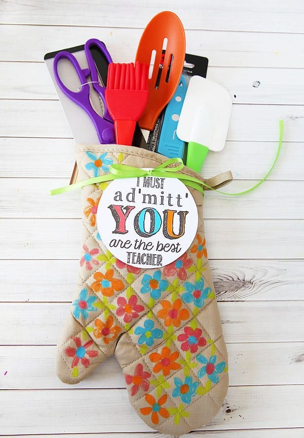 oven mitt teacher gift
