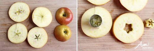 Four Flowery Ideas for Kids' Lunches - Flower Apples by Wendy Copley for Alphamom.com