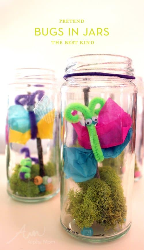 "Pretend ""Bugs in a Jar"" Craft by Brenda Ponnay for Alphamom.com"