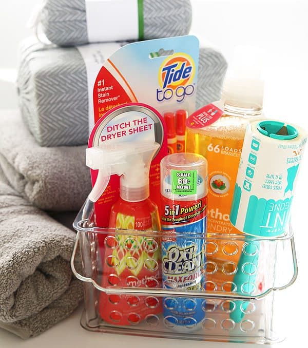 Plastic Container filled with laundry products