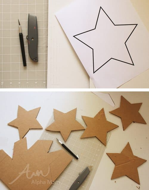 DIY Star Garland for Memorial Day