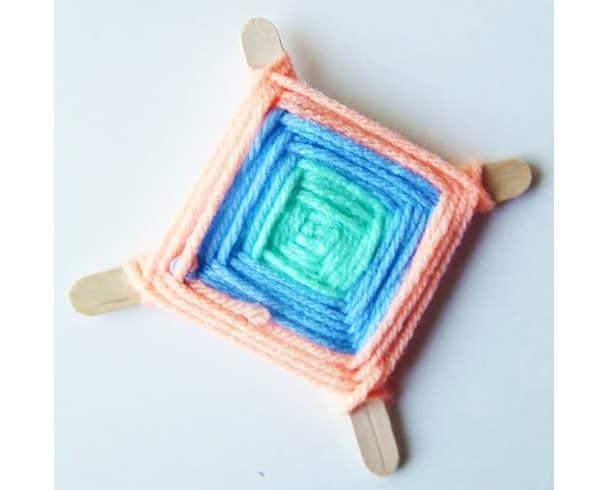 Yarn God's Eye Tutorial: popular kids' summer craft