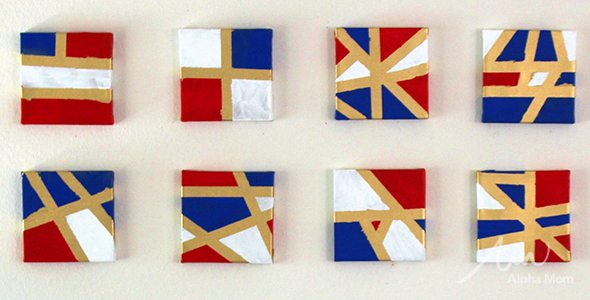 Easy DIY Geometric Art for Patriotic Holidays!