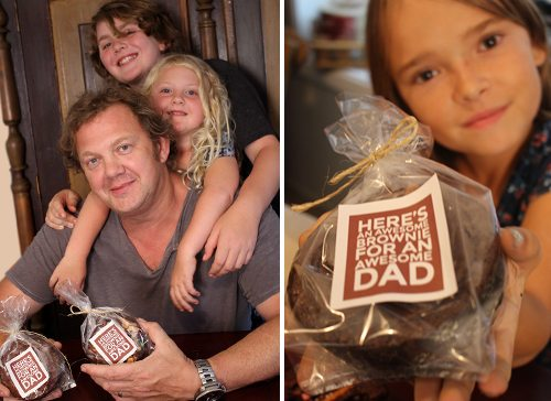 Father's Day Brownies for Awesome Dads by Brenda Ponnay for Alphamom.com #giftsfordad