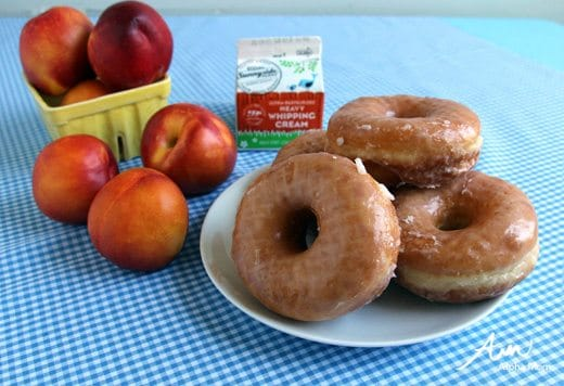 Ingredients for Peaches and Cream Donuts