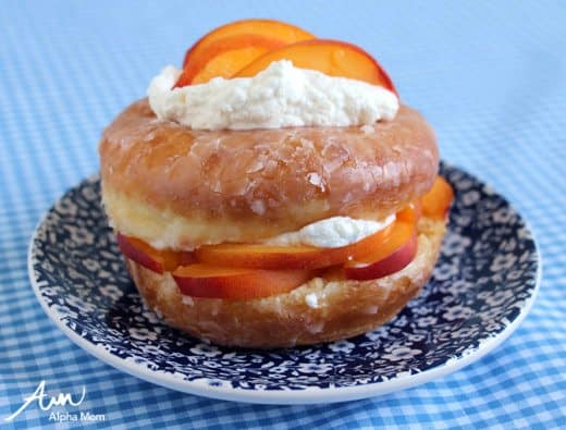 Peaches and Cream Donuts Recipe by Wendy Copley for Alphamom.com