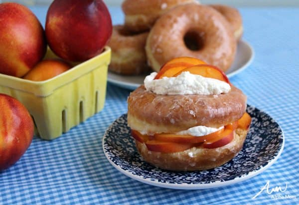Easy-to-Make Peaches and Cream Donuts Recipe by Wendy Copley for Alphamom.com