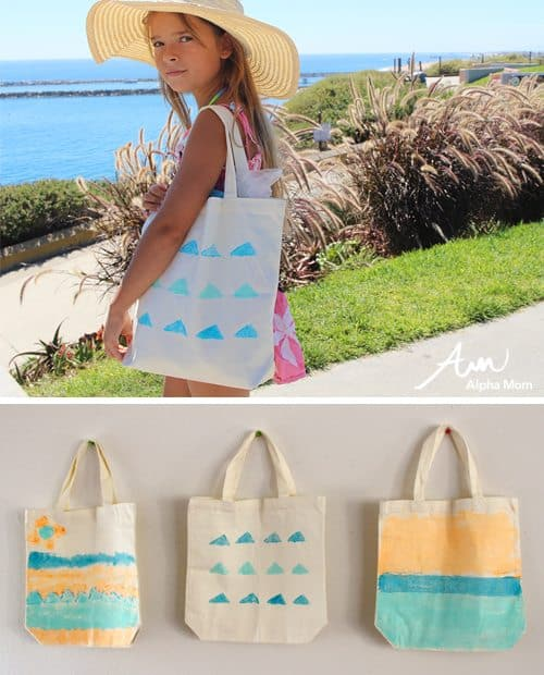 Paint Your Own Beach Tote by Brenda Ponnay for Alphamom.com