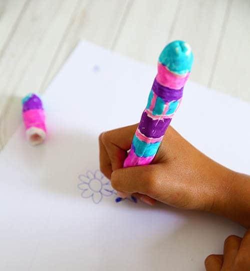 Fancy Pen made with Model Magic by Cindy Hopper for Alphamom.com