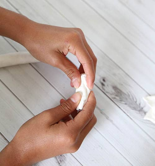 Fancy Pen Craft made with Model Magic (step 7) by Cindy Hopper for Alphamom.com