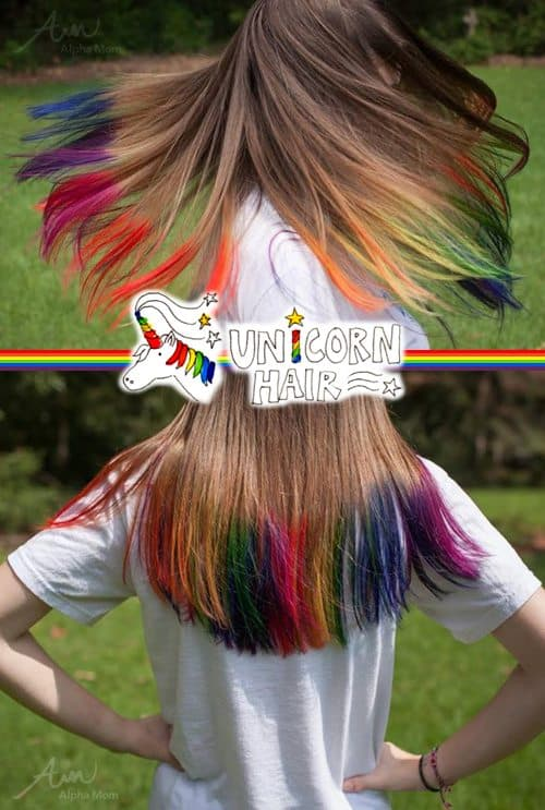 DIY Unicorn Hair Tutorial by Mir Kamin & Brenda Ponnay for Alphamom.com