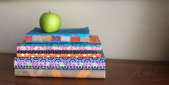 Washi Tape and Wrapping Paper Book Covers DIY