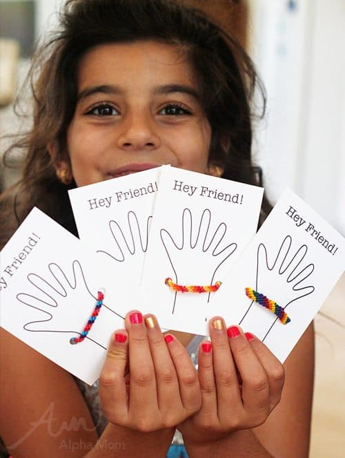 Friendship Bracelet Cards for Back-to-School by Brenda Ponnay for Alphamom.com