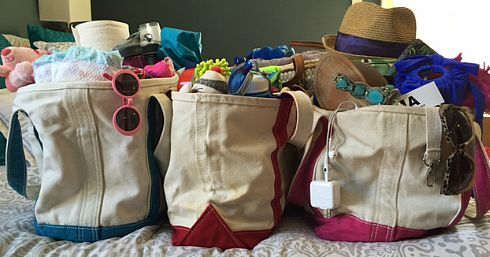 Choose tote bags for easier organization, hauling and stashing on family road trips. Plus, if you need an extra bag, you've got one! (Credit: Jessica Ashley)