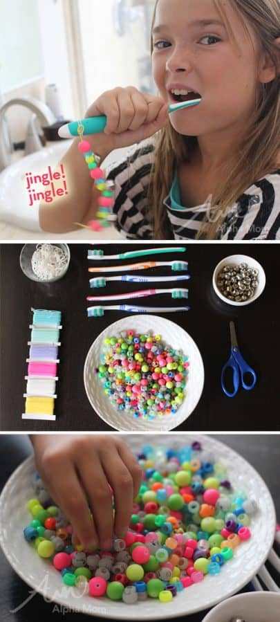 DIY Toothbrush Charms Tutorial (supplies) by Brenda Ponnay for Alphamom.com