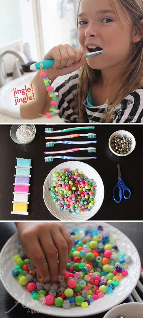 DIY Toothbrush Charms Tutorial (supplies) by Brenda Ponnay for Alphamom.com