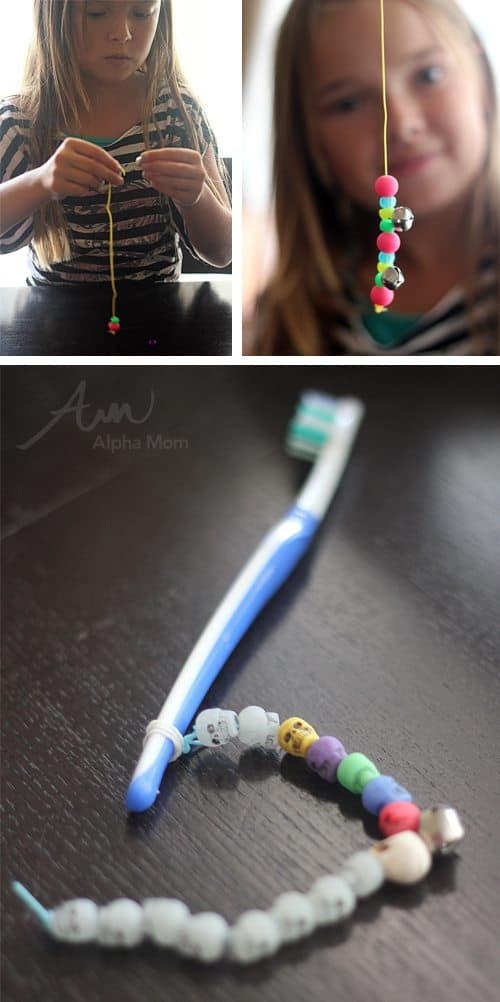 DIY Toothbrush Charms Tutorial by Brenda Ponnay for Alphamom.com