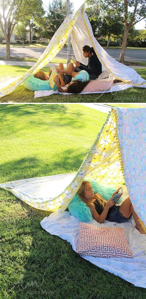 DIY Reading Tent (a Super Simple Sewing Project) by Brenda Ponnay for Alphamom.com
