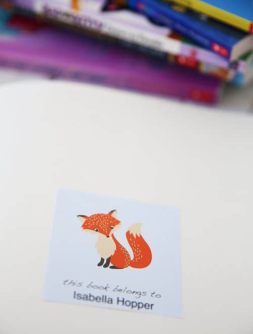 Free Printable Personalized Bookplates For Back To School