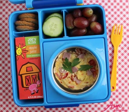 Lunchbox Microwave Quiche Bento Box by Wendy Copley for Alphamom.com
