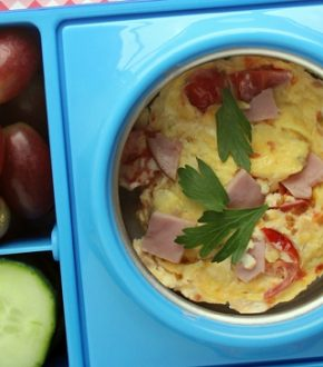5 Minute Microwave Quiche for the Lunch Box