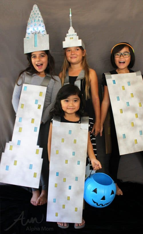 Empire State & Chrysler Buildings Halloween Costumes for Kids by Brenda Ponnay for Alphamom.com