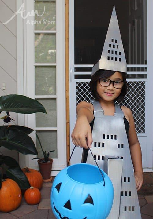 Transamerica Pyramid Kids Halloween Costume by Brenda Ponnay for Alphamom.com