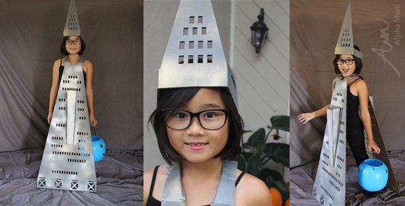 Transamerica Pyramid Building Kids Halloween Costume by Brenda Ponnay for Alphamom.com