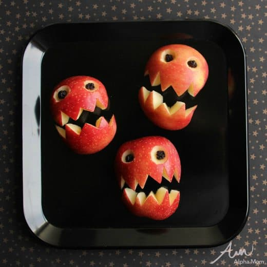 Apple Monsters Snack Tray for Halloween by Wendy Copley for Alphamom.com