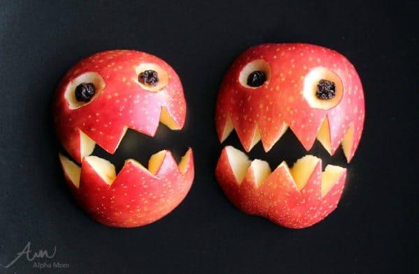 Apple Monsters Halloween Snack