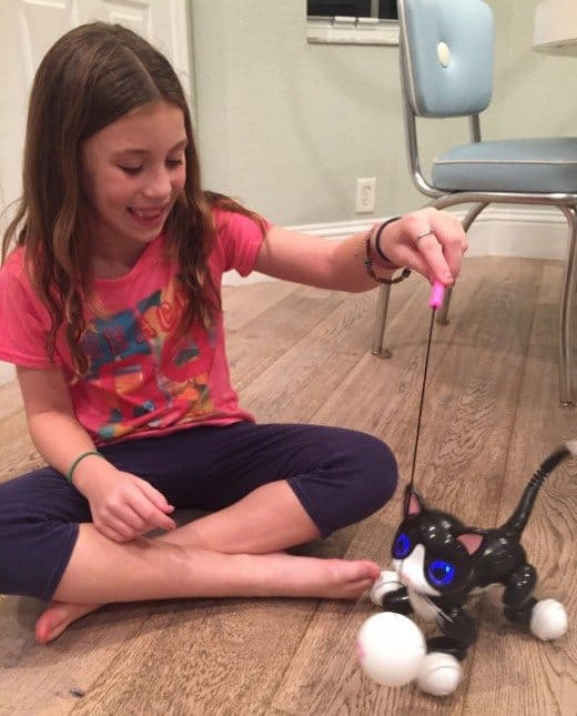 Zoomer Kitty Review: This interactive kitty toy is definitely fun, plus no shedding! If you have a child that loves cats, this would be a great toy for the holidays. But remember this toy needs frequent charging which can be a turn off for some kids.