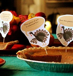 Thanksgiving Day Pie Topper Printable!