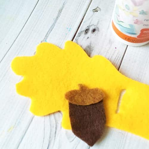 leaf napkin ring glue
