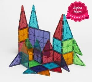 "Magna-Tiles: This is by far my favorite toy in the whole wide world. This is another toy with tremendous staying power. If you can swing it, I recommend starting to buy tiles when your kid(s) are young and then add and add to the collection (especially if/ when you can find them on sale). On Alpha Mom's ""Forever Hit Toys"" List for the Holidays."