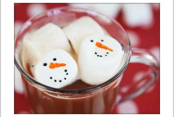 Floating Snowman Marshmallows