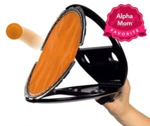 """Squap: we love, love, love this simple throw/catch game. No batteries, very portable and can even be played alone. On Alpha Mom's """"Forever Hit Toys"""" List for the Holidays."""