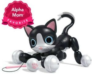 Zoomer Kitty: This interactive kitty toy is definitely fun, plus no shedding! If you have a child that loves cats, this would be a great toy for the holidays. But remember this toy needs frequent charging which can be a turn off for some kids. Read our full review here.