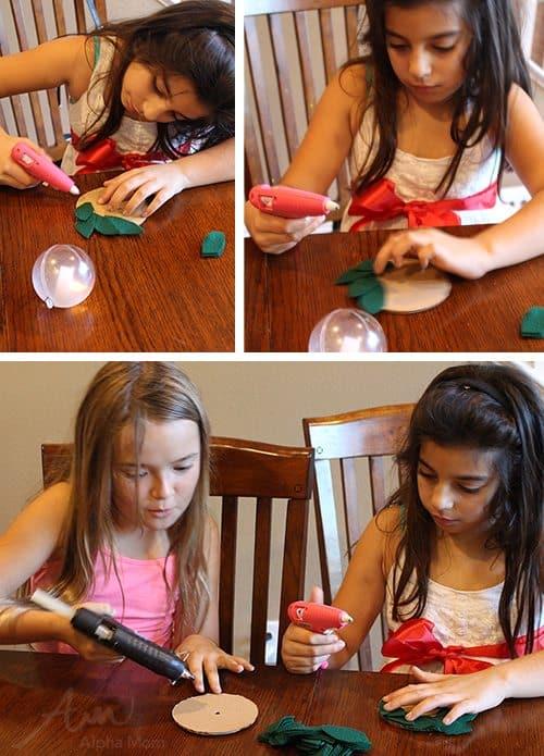 St. Lucia Day Craft: Bubble Candle Wreath by Brenda Ponnay for Alphamom.com (glue gun safety talk)