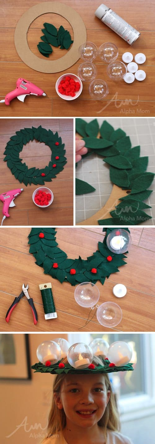 St. Lucia Day Craft: Bubble Candle Wreath by Brenda Ponnay for Alphamom.com (tutorial)