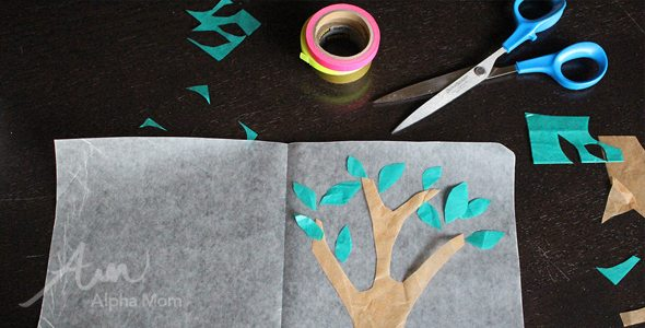 Tree Sun-Catcher Craft for Tu B'Shvat