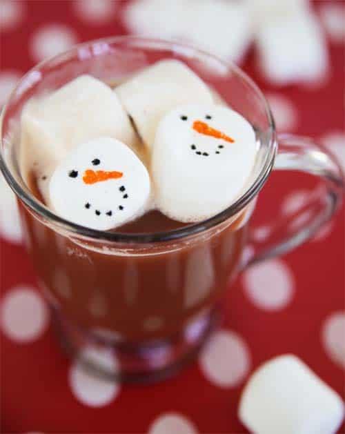 Floating Snowman Marshmallows by Cindy Hopper for Alphamom.com